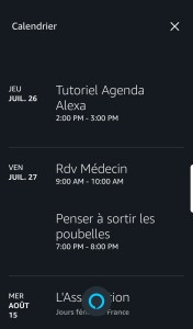 Tutoriel agenda Amazon Alexa