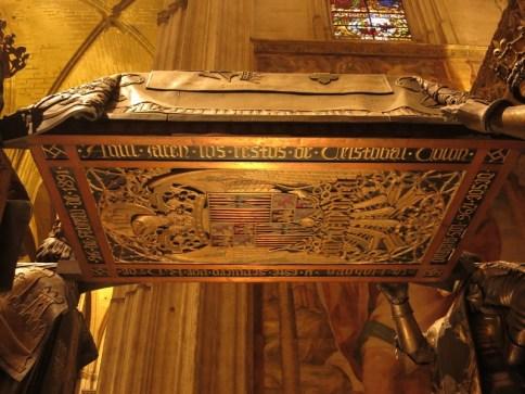 Cathédrale de Séville - mausoleo de Colon - tombe de Christophe Colomb