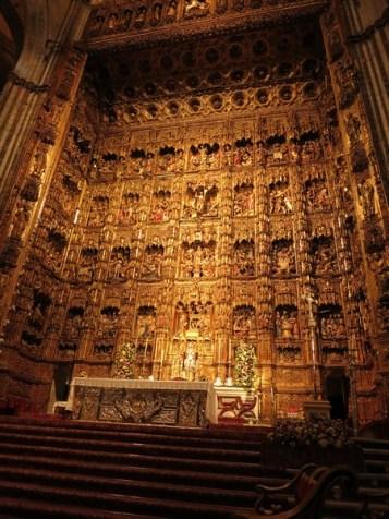 Cathédrale de Séville - maître-autel - Plus grand retable au monde