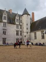Spectacle équestre au château du Plessis-Bourré