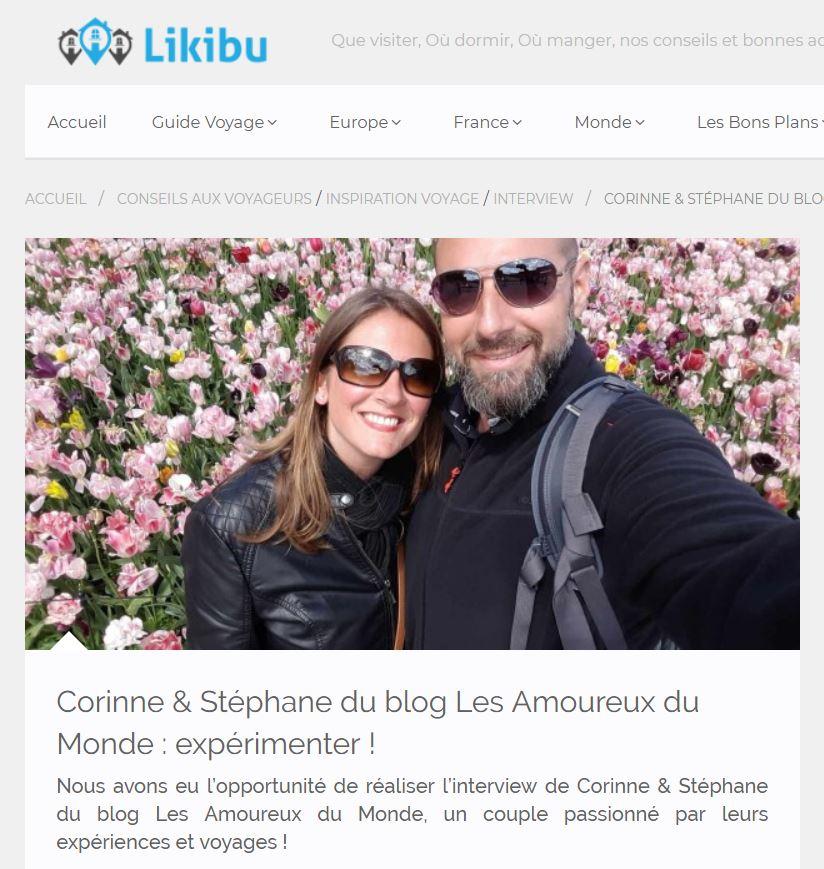interview Coco et Steph - les Amoureux du Monde par Likibu
