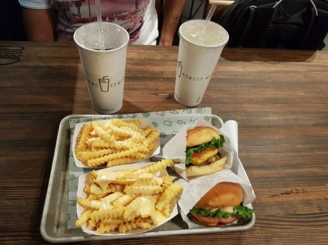 les burgers de Shake Shack - Las Vegas