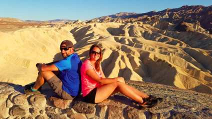 zabriskie point - Death Valley (la Vallée de la mort)