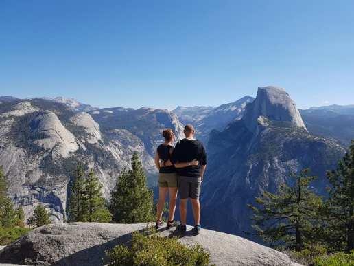 Vue magique depuis Glacier Point - Yosemite National Park
