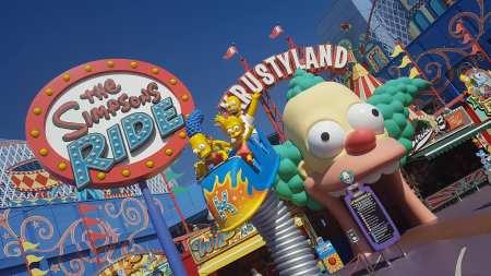 Attraction The Simpspns Ride - Universal Studios