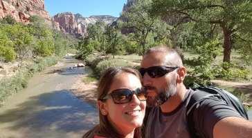 Les Amoureux du Monde à Zion National Park