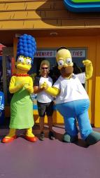 Photo souvenir avec les Simpson - Universal Studios