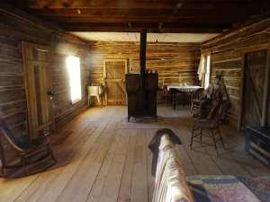 intérieur de la maison de Butch Cassidy