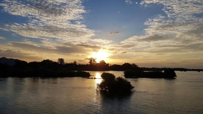 coucher de soleil à Don Det - 4000 îles
