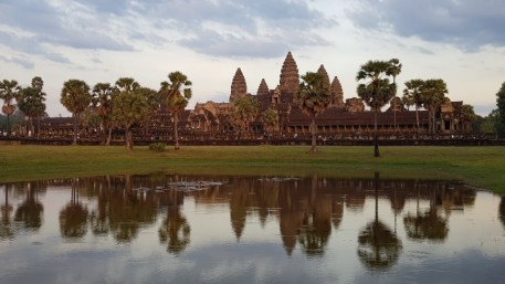 Coucher de soleil sur les Temples d'Angkor - Cambodge