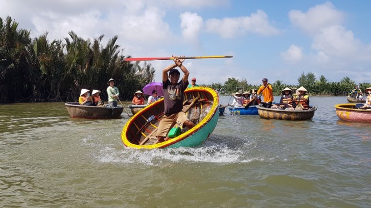 Basket boat - water coconut village - Hoi An