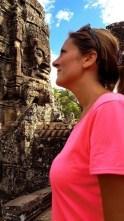 Tête à tête original aux Temples d'Angkor - Cambodge