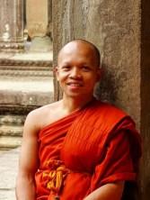 portrait d'un moine aux Temples d'Angkor - Cambodge