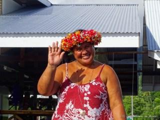 Femme polynésienne à Tahaa