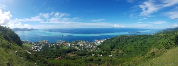 vue sur Raiatea et son lagon
