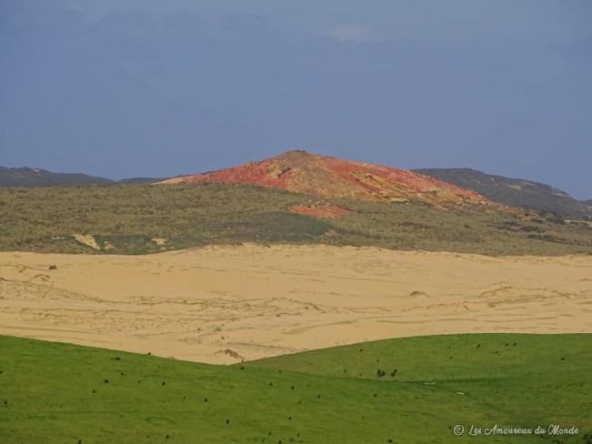 Dunes de sable au Cap Reinga Nouvelle-Zélande