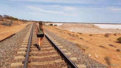Voie ferré à côté du Lake Hart - Australie