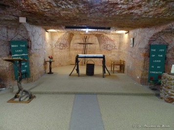Catacomb church - Coober Pedy - Australie