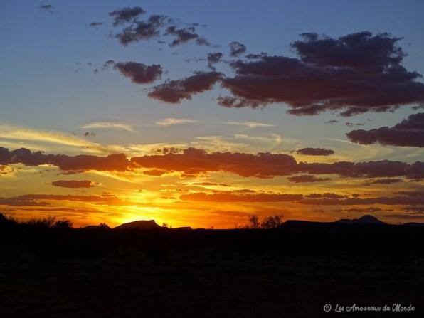 coucher de soleil à Alice Springs