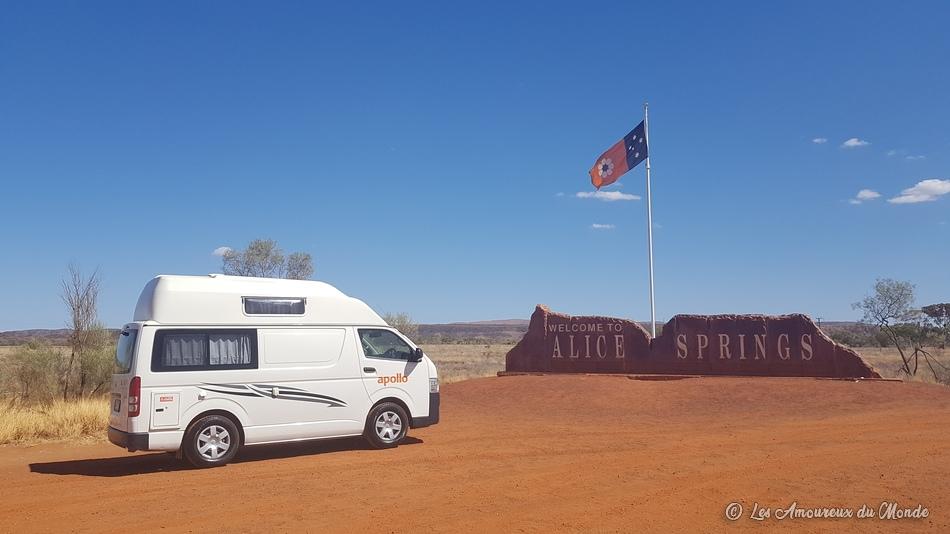 panneau Alice Springs - Australie