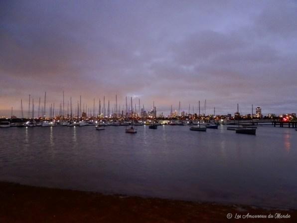 vue de nuit jetée St Kilda Melbourne