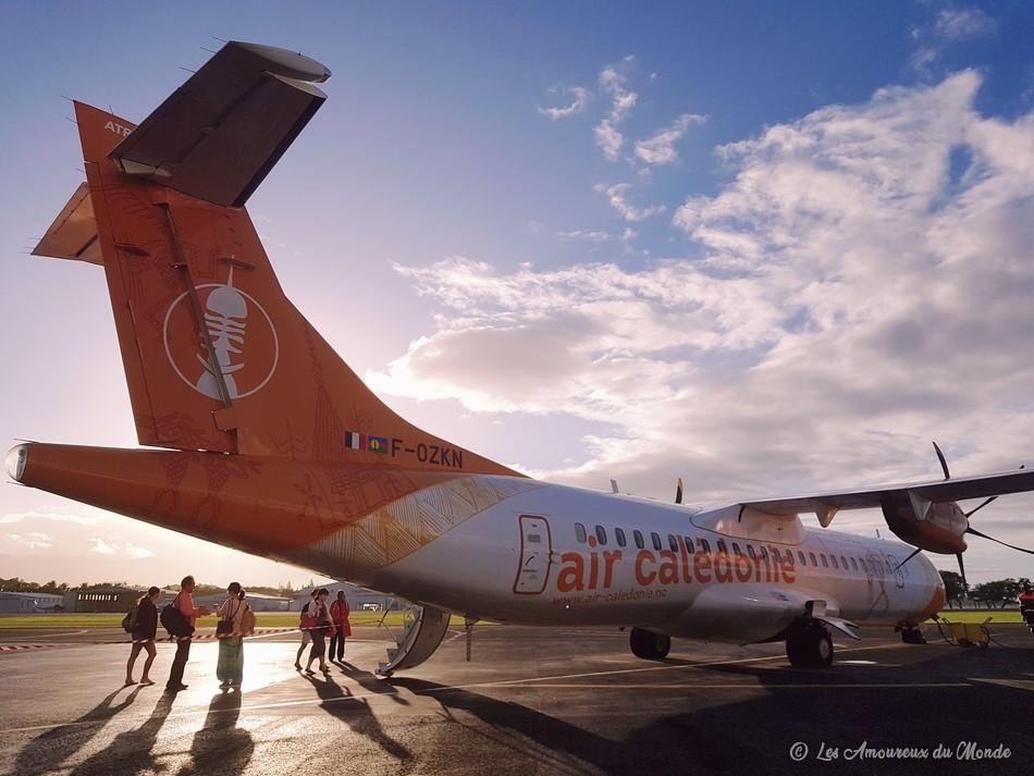avion Air Calédonie pour rejoindre l'île des Pins