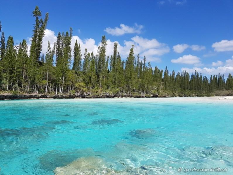 Piscine naturelle baie d'Oro - île des Pins - Nouvelle Calédonie
