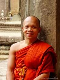 moine à Angkor Vat - Cambodge