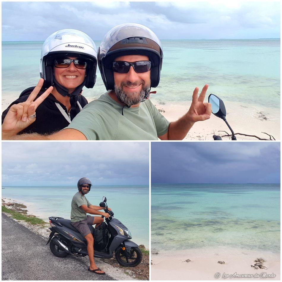 Visiter l'île de Ouvéa en scooter
