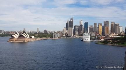 Vue sur Sydney depuis le Harbour Bridge