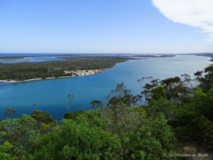 Point de vue près de Lakes Entrance