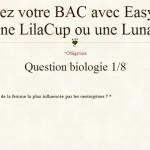 Des lilacups et des lunacopines via un petit questionnaire de 8 questions.