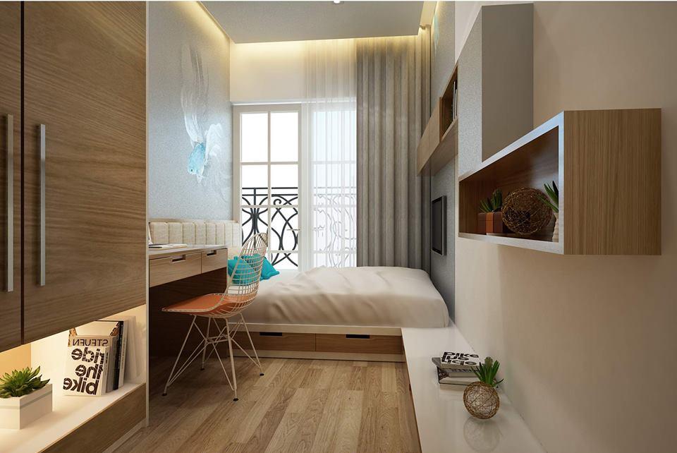 Phối cảnh phòng ngủ nhỏ 1 (tầng 2)