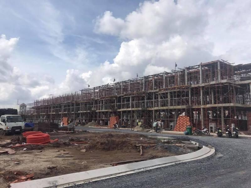 Tiến độ xây dựng nhà phố Khang Điền Bình Chánh