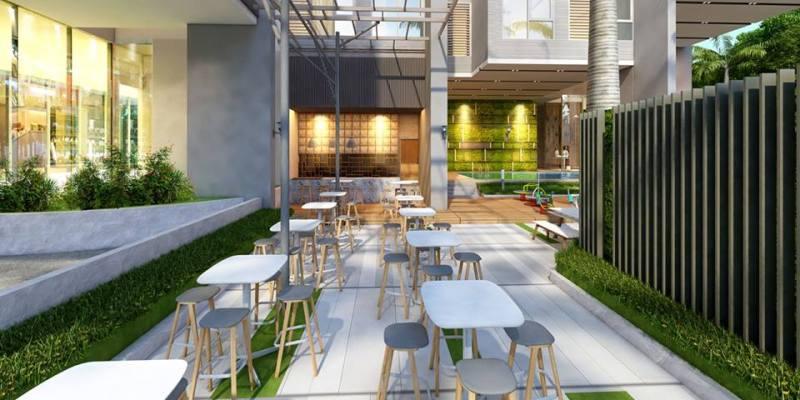 Một góc khu Cafe thư giản tại Thủ Thiêm Garden