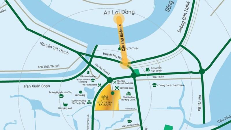 Sơ đồ vị trí căn hộ Eco Green Sài Gòn Quận 7