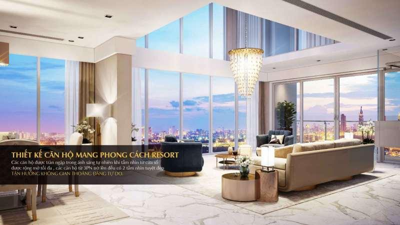 Đảo Kim Cương - Thiết kế căn hộ theo phong cách Resort