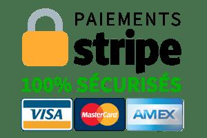 Paiements 100% sécurisés via Stripe