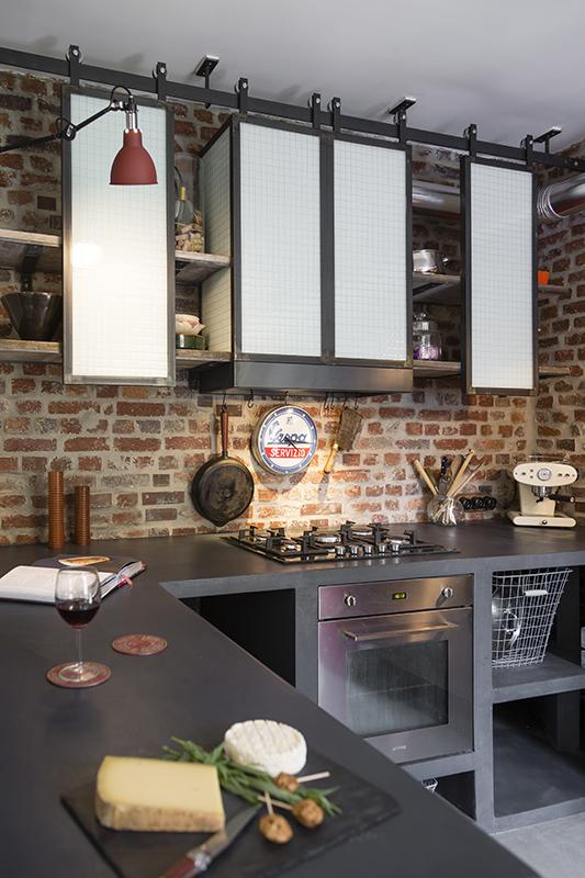 tagres de cuisine de style indus en acier  Les Ateliers du 4