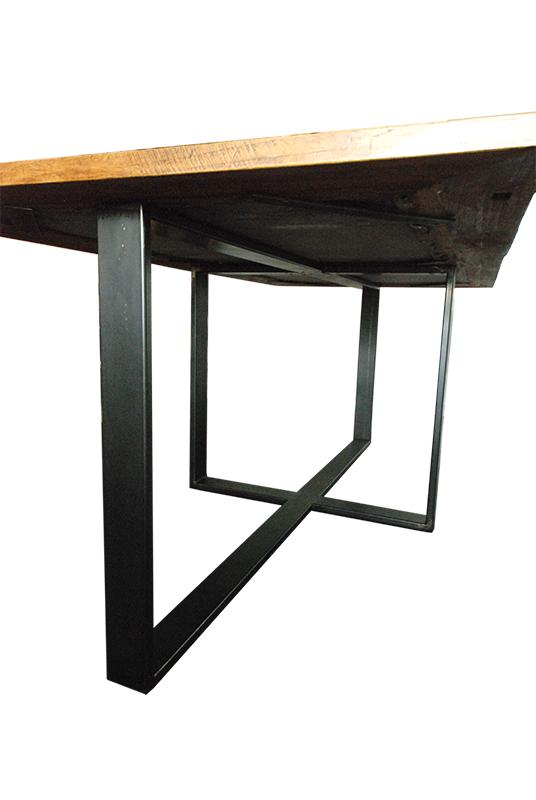 Table En Mtal Plateau Bois Et Pierre Les Ateliers Du 4