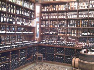 wall of wine at evdf