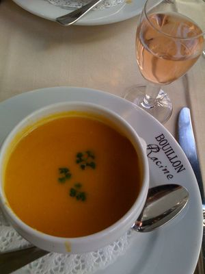 squash and chestnut soup