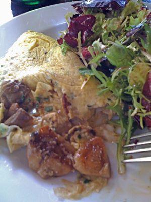 omelette avec cepes