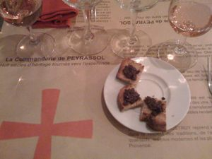 commanderie rose and truffle pate