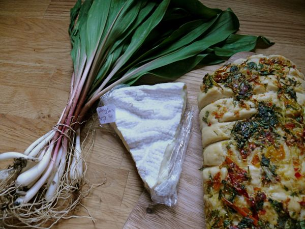 ramps, ramembert, herb bread