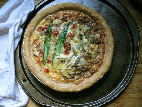 ramp/onion quiche test outcome