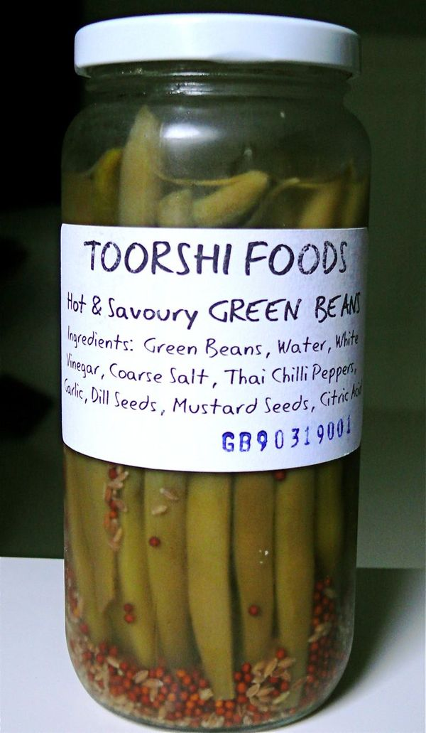 toorshi foods pickled green beans