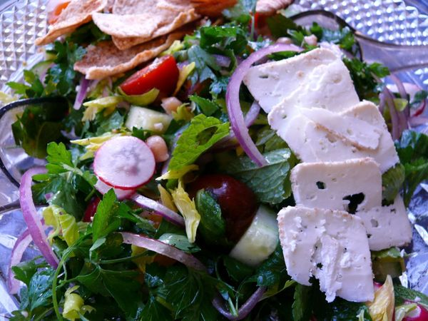 mom's fattoush salad