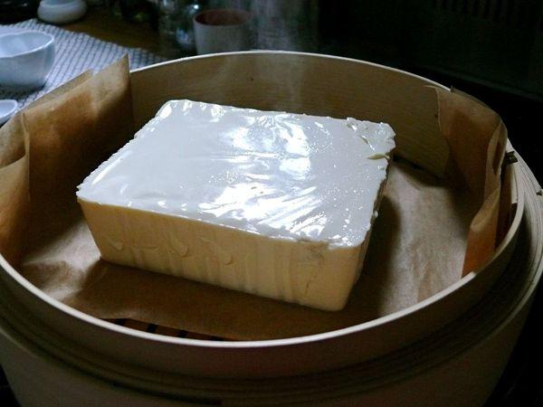 silken tofu steaming