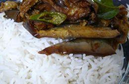 fried eggplant curry